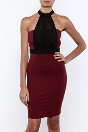 Shoptiques Product: Strapless Burgundy Dress