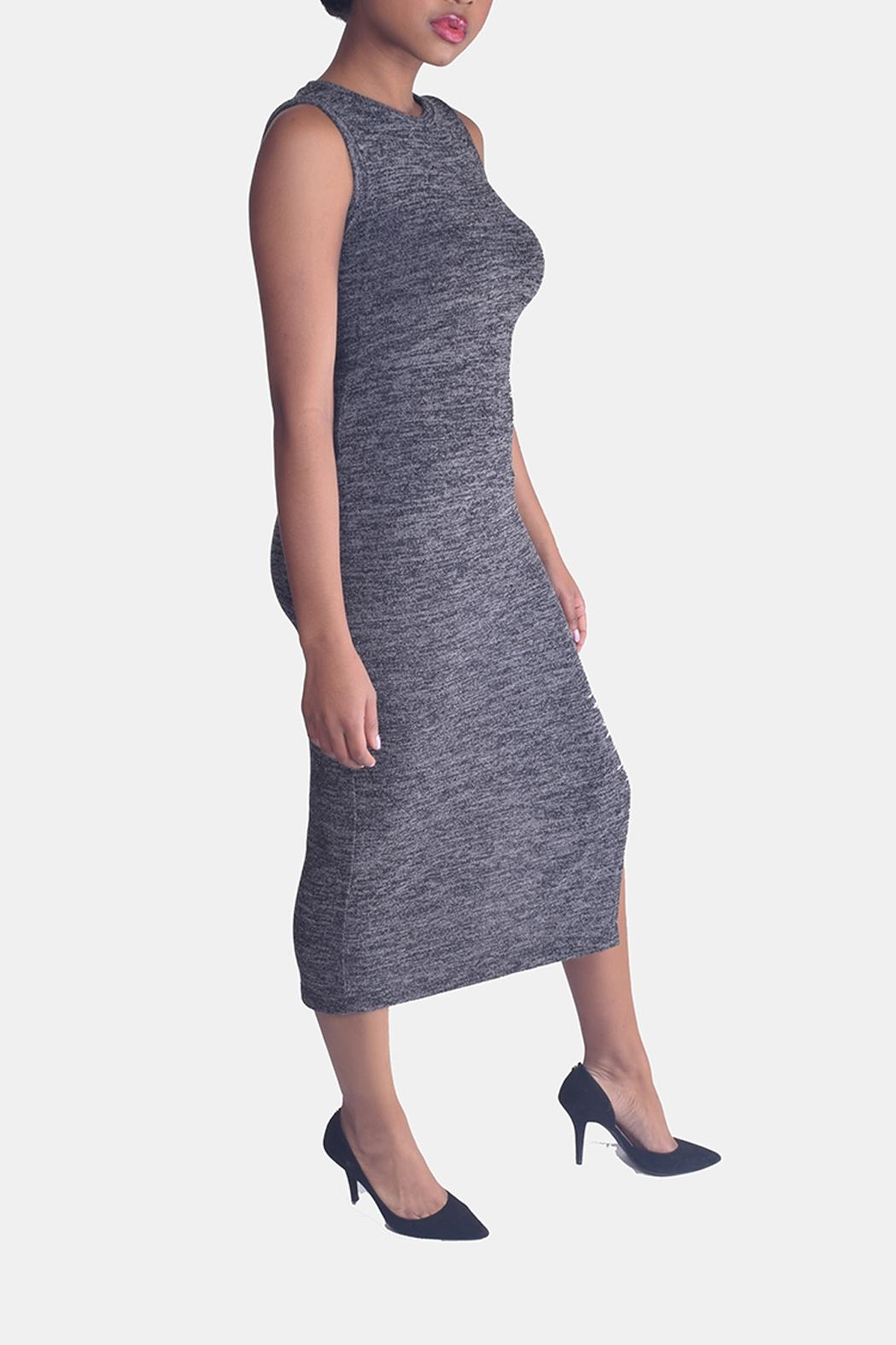 Mystic Sweater Bodycon Dress - Side Cropped Image