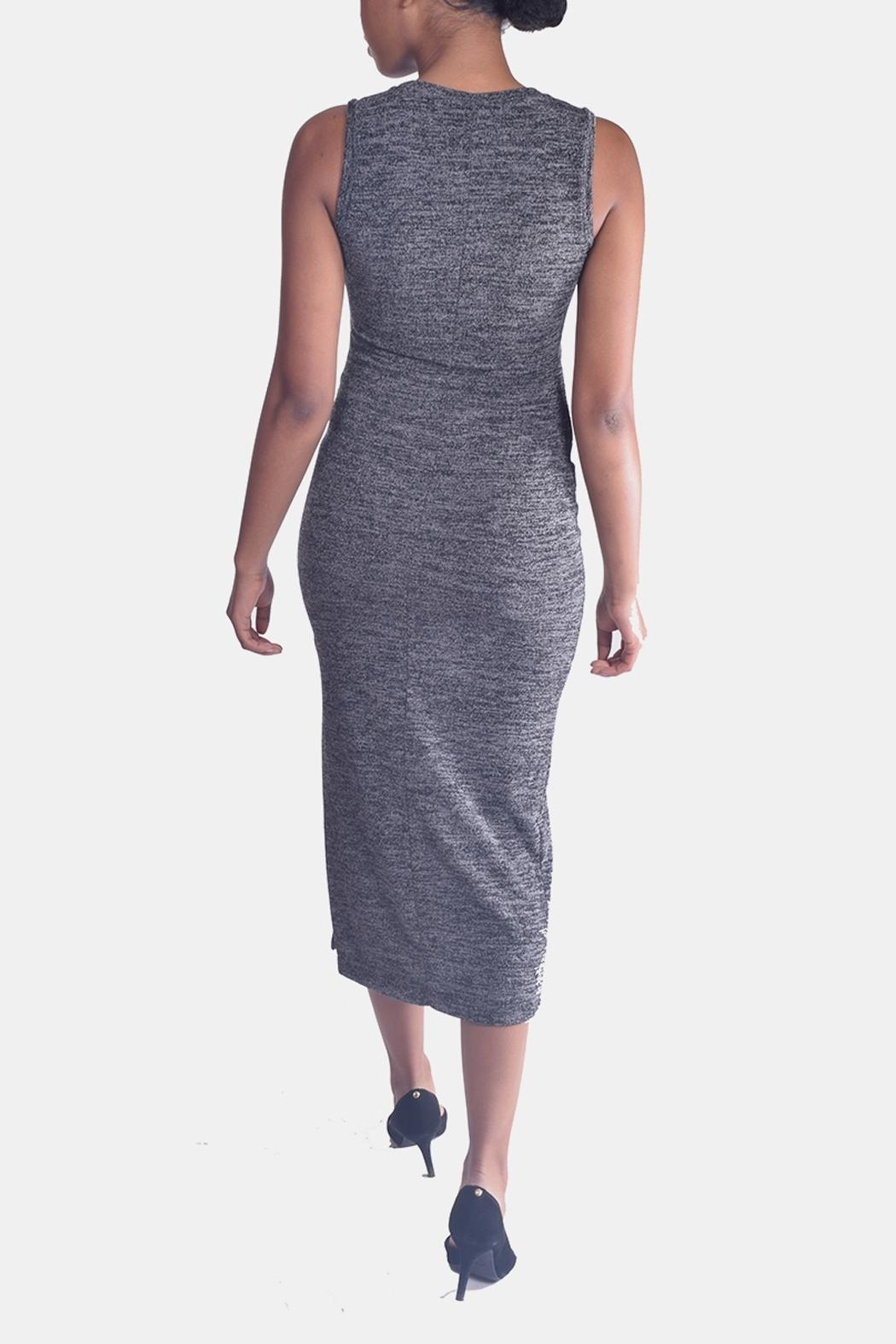 Mystic Sweater Bodycon Dress - Back Cropped Image