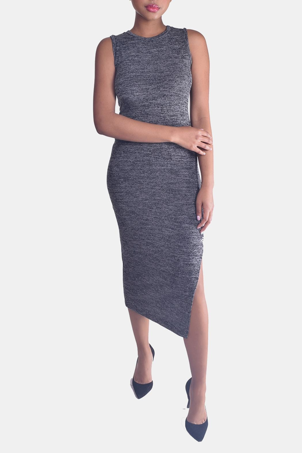 Mystic Sweater Bodycon Dress - Front Full Image