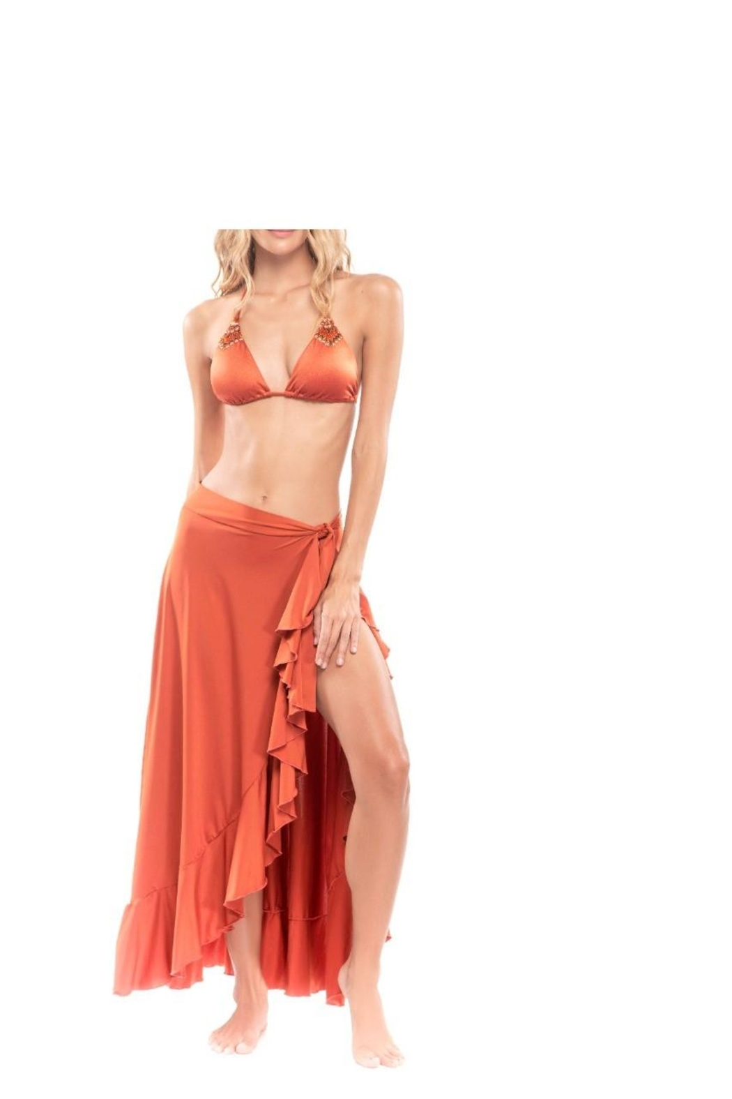 Mystical Swimwear Wild Ruffle Cover-Up - Front Cropped Image
