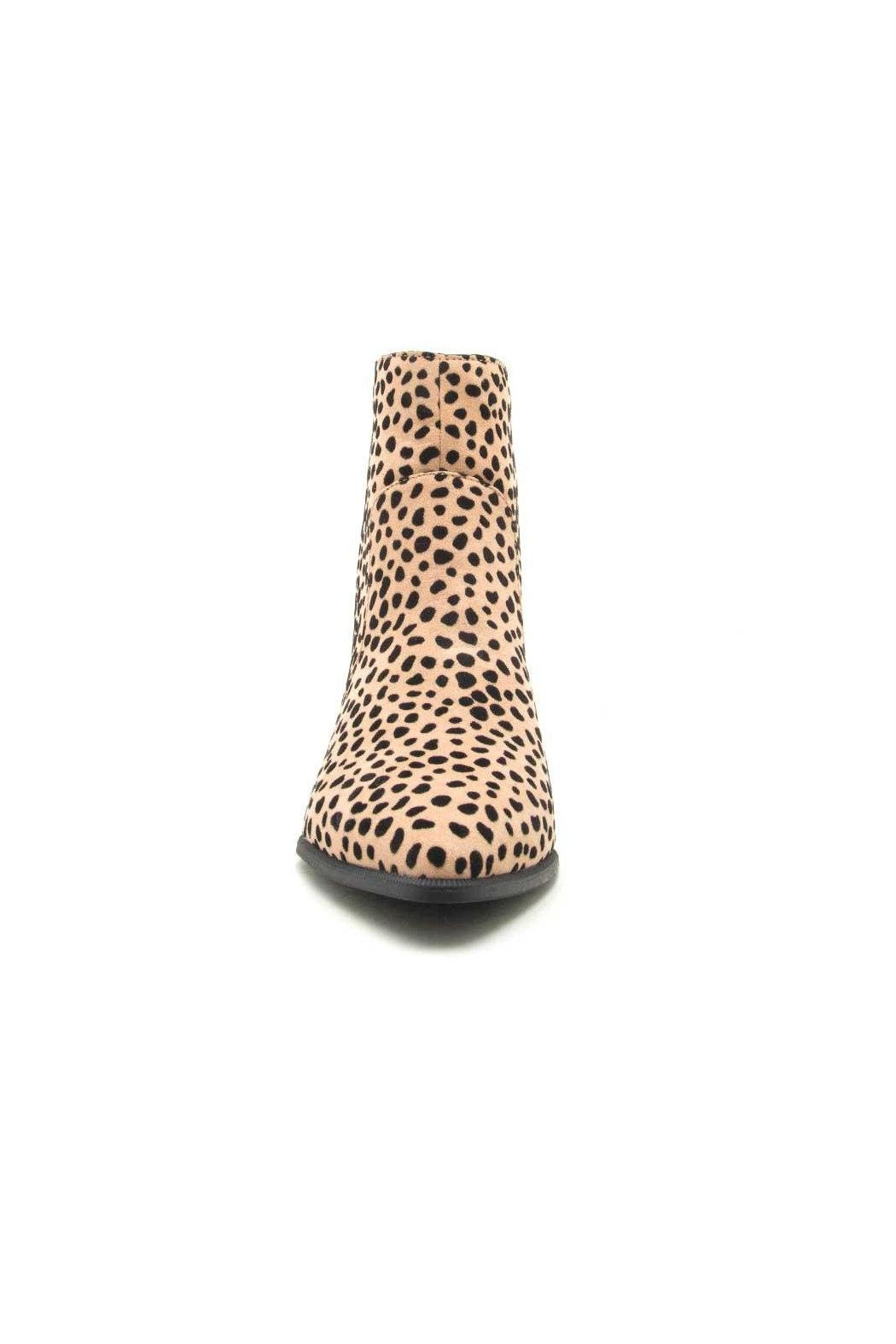 Qupid Mystique Cheetah Bootie - Side Cropped Image
