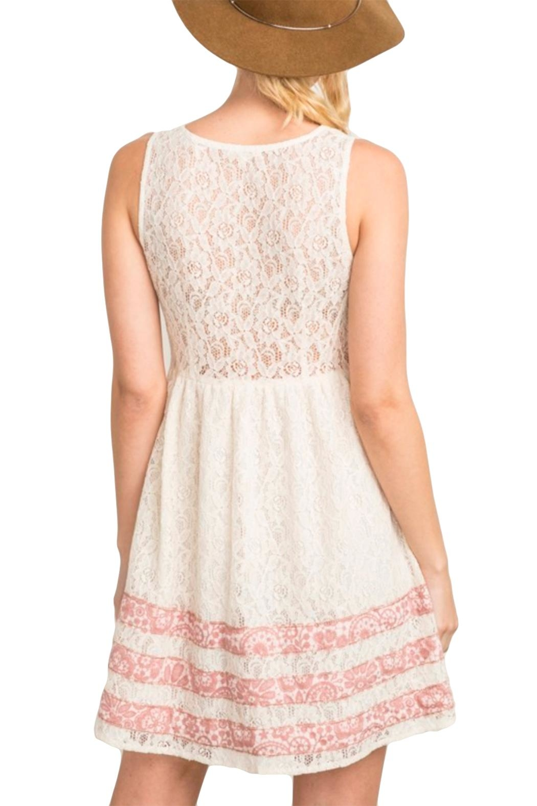 Mystree Abigail Lace Dress - Side Cropped Image