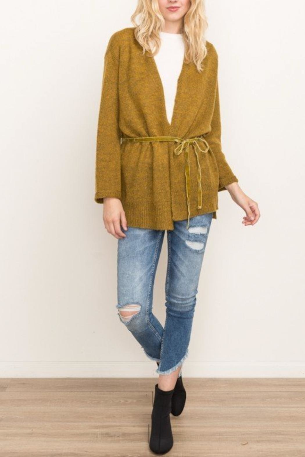 Mystree Afterglow Cardi - Front Cropped Image