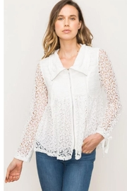 Mystree Babydoll Lace Jacket - Front cropped