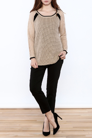 Mystree Beige Long Sleeve Sweater - Front full body