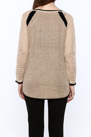 Mystree Beige Long Sleeve Sweater - Back cropped