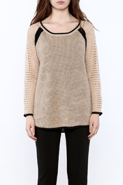 Mystree Beige Long Sleeve Sweater - Side cropped