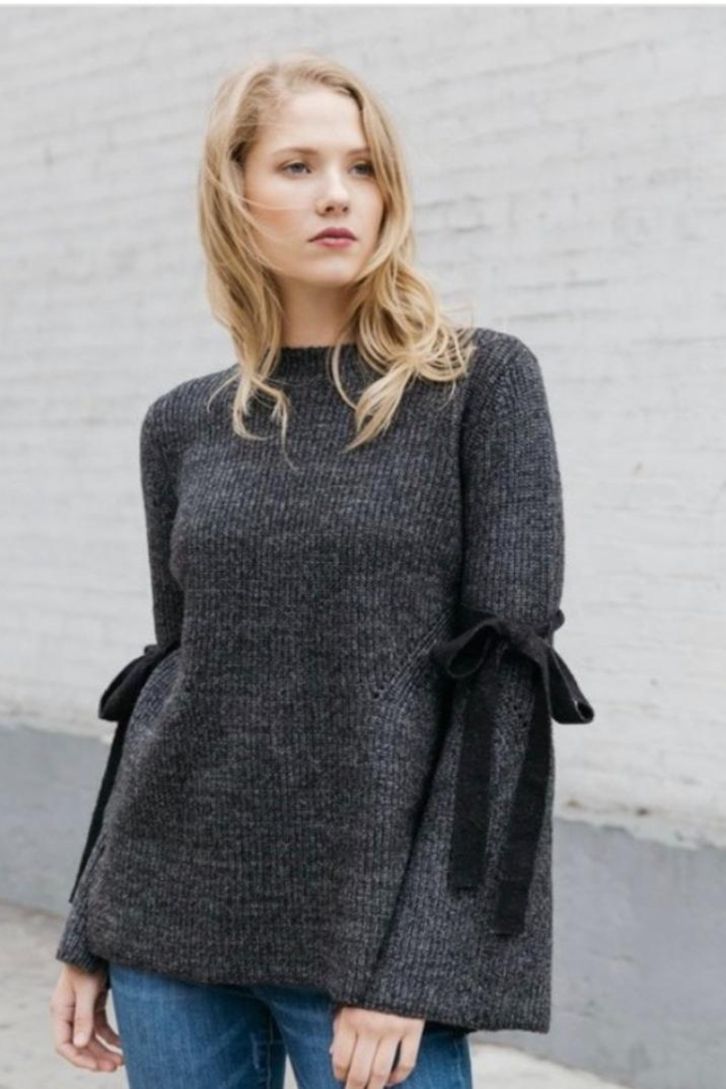 Mystree Bell Sleeve Sweater - Main Image