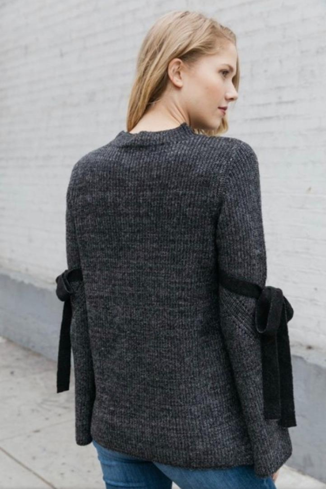 Mystree Bell Sleeve Sweater - Front Full Image