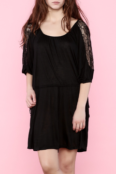 Shoptiques Product: Three-Quarter Sleeve Black Dress
