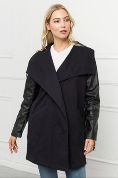 Mystree Black Maxi Jacket - Product List Image