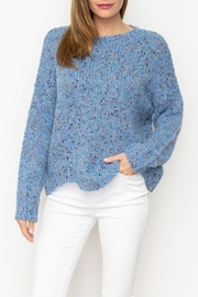 Mystree Blue Confetti Sweater - Product Mini Image