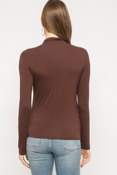 Mystree Brown Mock-Neck Long-Sleeve - Alternate List Image