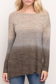Mystree Brushed Ombré Top - Front cropped