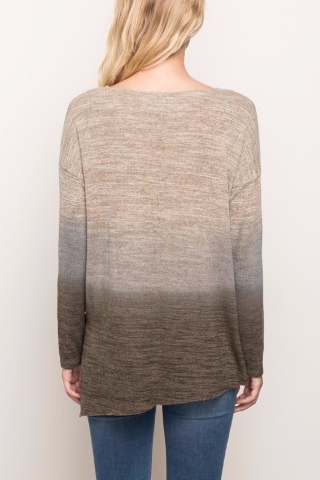 Mystree Brushed Ombré Top - Side Cropped Image