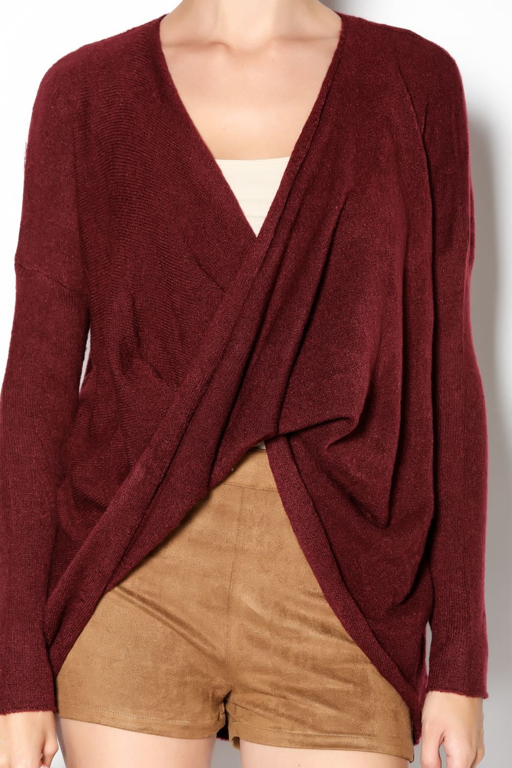 Mystree Burgundy Wrap Sweater from Colorado by The Telluride ...