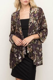 Mystree Burnout Velvet Kimono - Product Mini Image