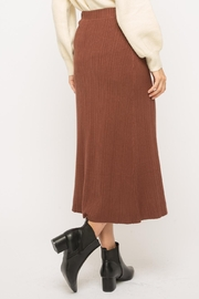 Mystree Button-Up Midi Skirt - Back cropped