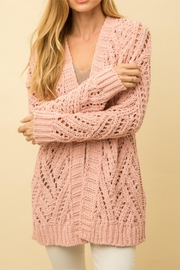Mystree Cable Knit Cardigan - Product Mini Image