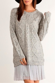 Mystree Cable Knit Sweater - Front cropped