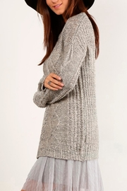 Mystree Cable Knit Sweater - Front full body