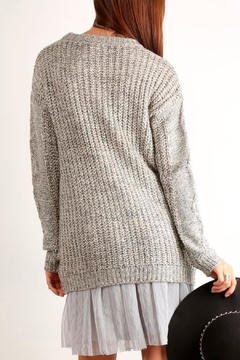 Mystree Cable Knit Sweater - Alternate List Image