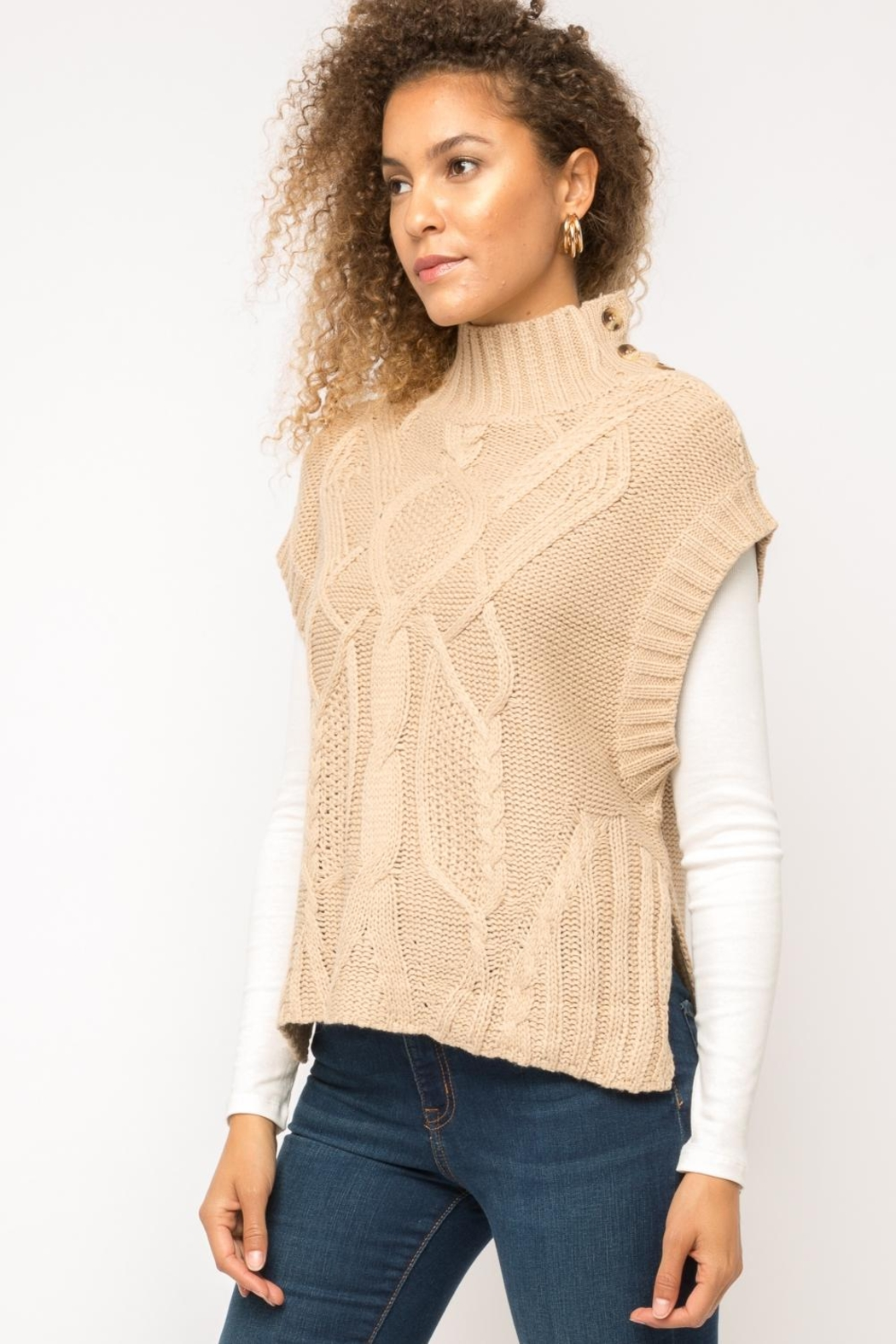 Mystree Cable Knit Sweater-Vest - Main Image