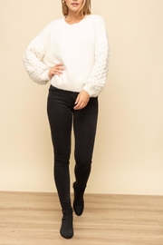 Mystree Cable Sleeve Sweater - Back cropped