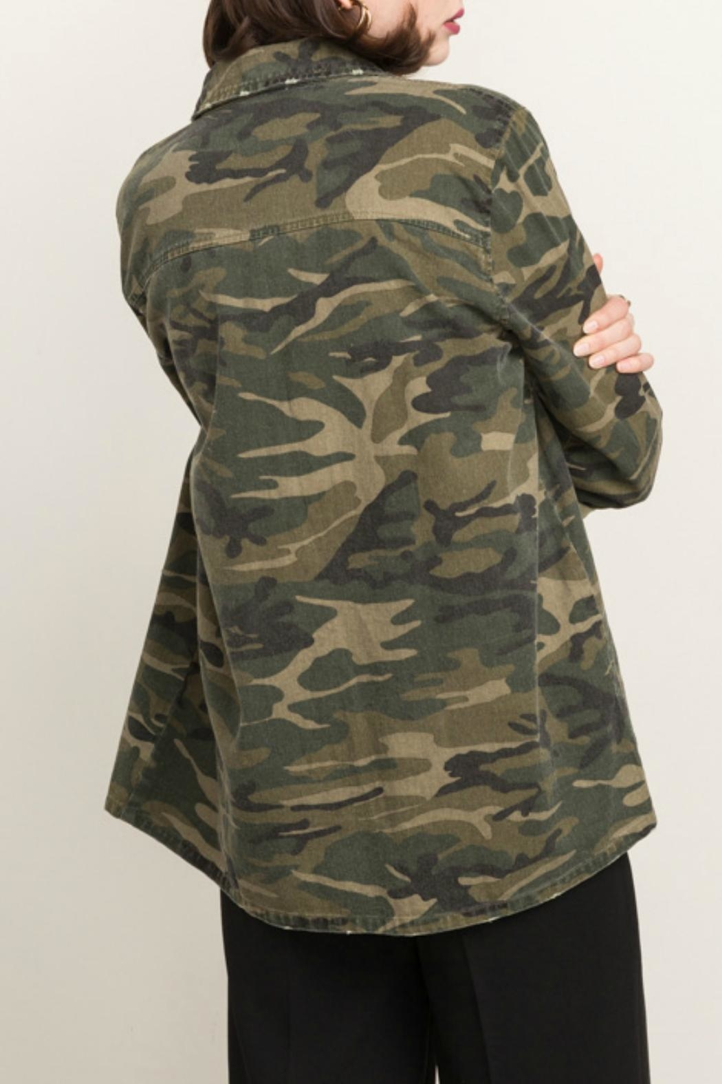 Mystree Camo Army Jacket - Side Cropped Image