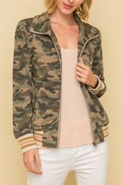 Mystree Camo Bomber Jacket - Product Mini Image