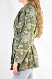 Mystree Camo Trench Jacket - Back cropped