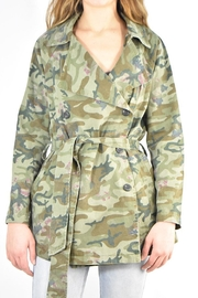 Mystree Camo Trench Jacket - Front cropped