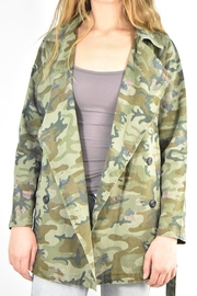 Mystree Camo Trench Jacket - Side cropped