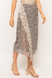 Mystree Cheetah Midi Skirt - Back cropped