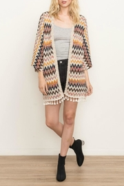 Mystree Chevron Cardi - Front cropped