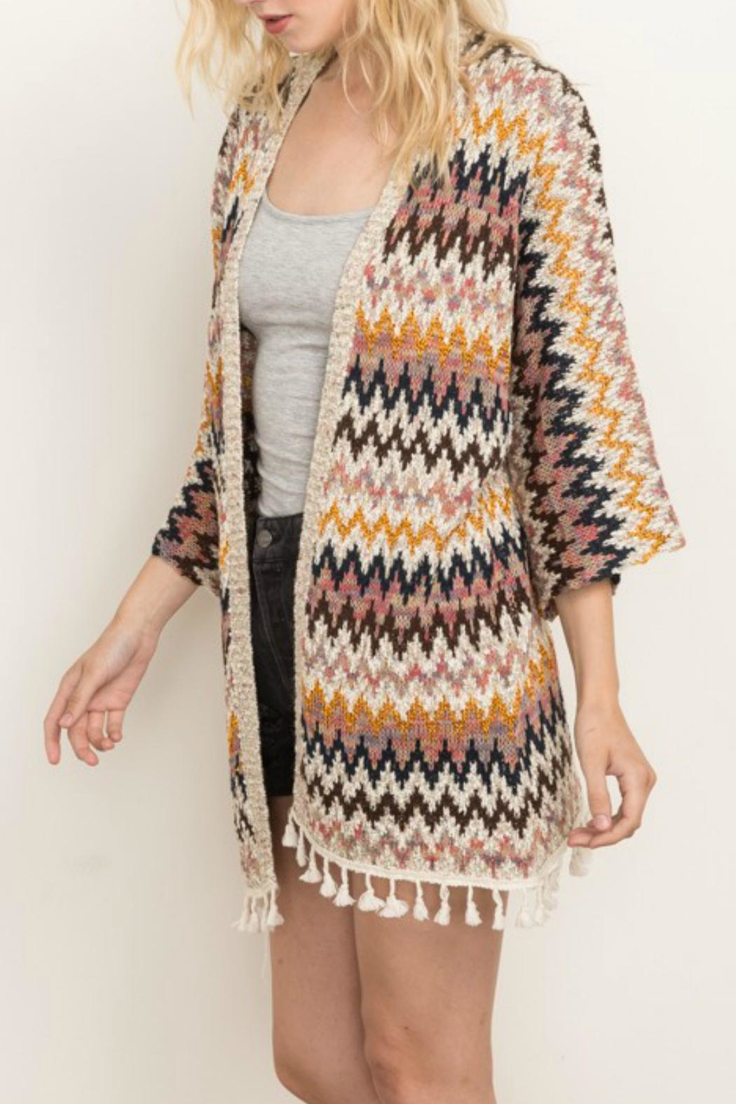 Mystree Chevron Cardi - Front Full Image