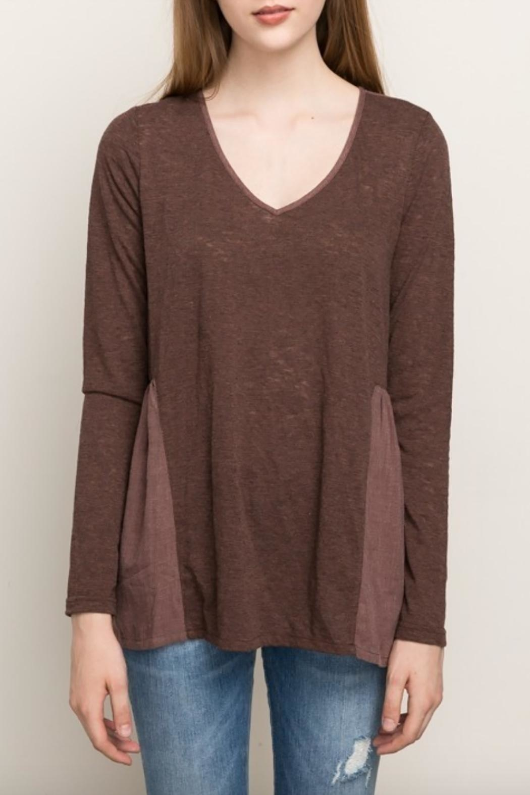 Mystree Chocolate Maroon Blouse - Front Full Image