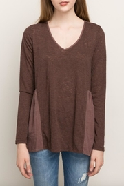 Mystree Chocolate Maroon Blouse - Front full body