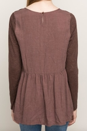 Mystree Chocolate Maroon Blouse - Back cropped