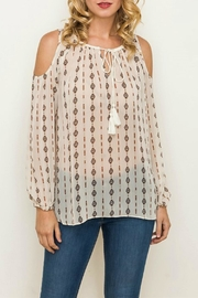 Mystree Cold Shoulder Top - Product Mini Image