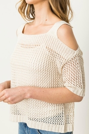 Mystree Coldshoulder Pullover Sweater - Front full body