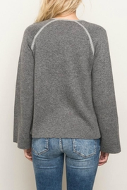 Mystree Contrast Sweater Cardigan - Side cropped