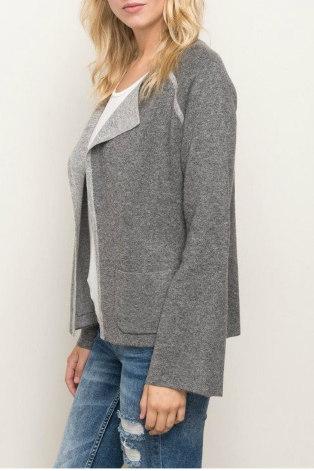 Mystree Contrast Sweater Cardigan - Front Full Image