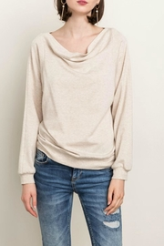 Mystree Cowl Lace Back Top - Product Mini Image