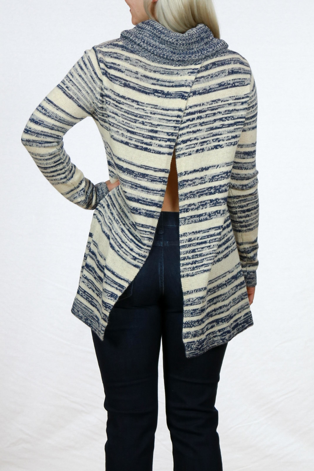 Mystree Cowl Neck Sweater - Side Cropped Image