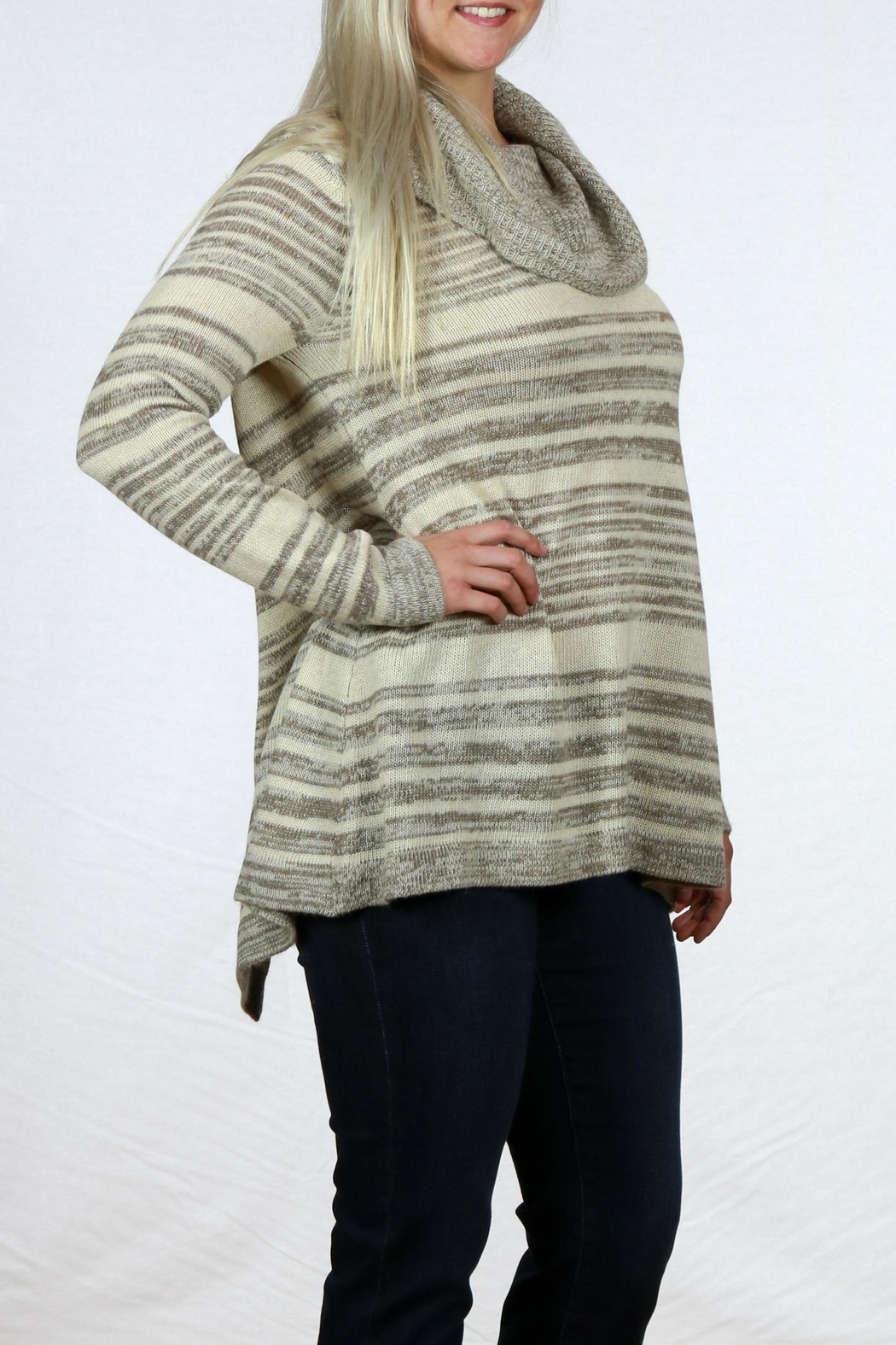 Mystree Cowl Neck Sweater - Front Full Image