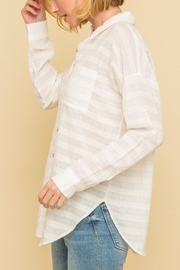 Mystree Crinkle Button Down - Front full body