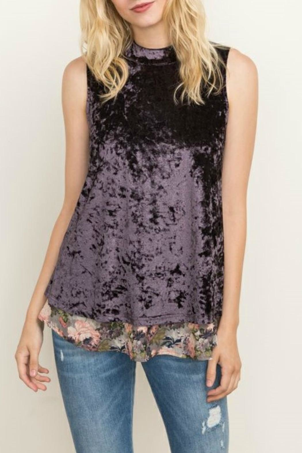 Mystree Crushed Velvet Tank - Main Image