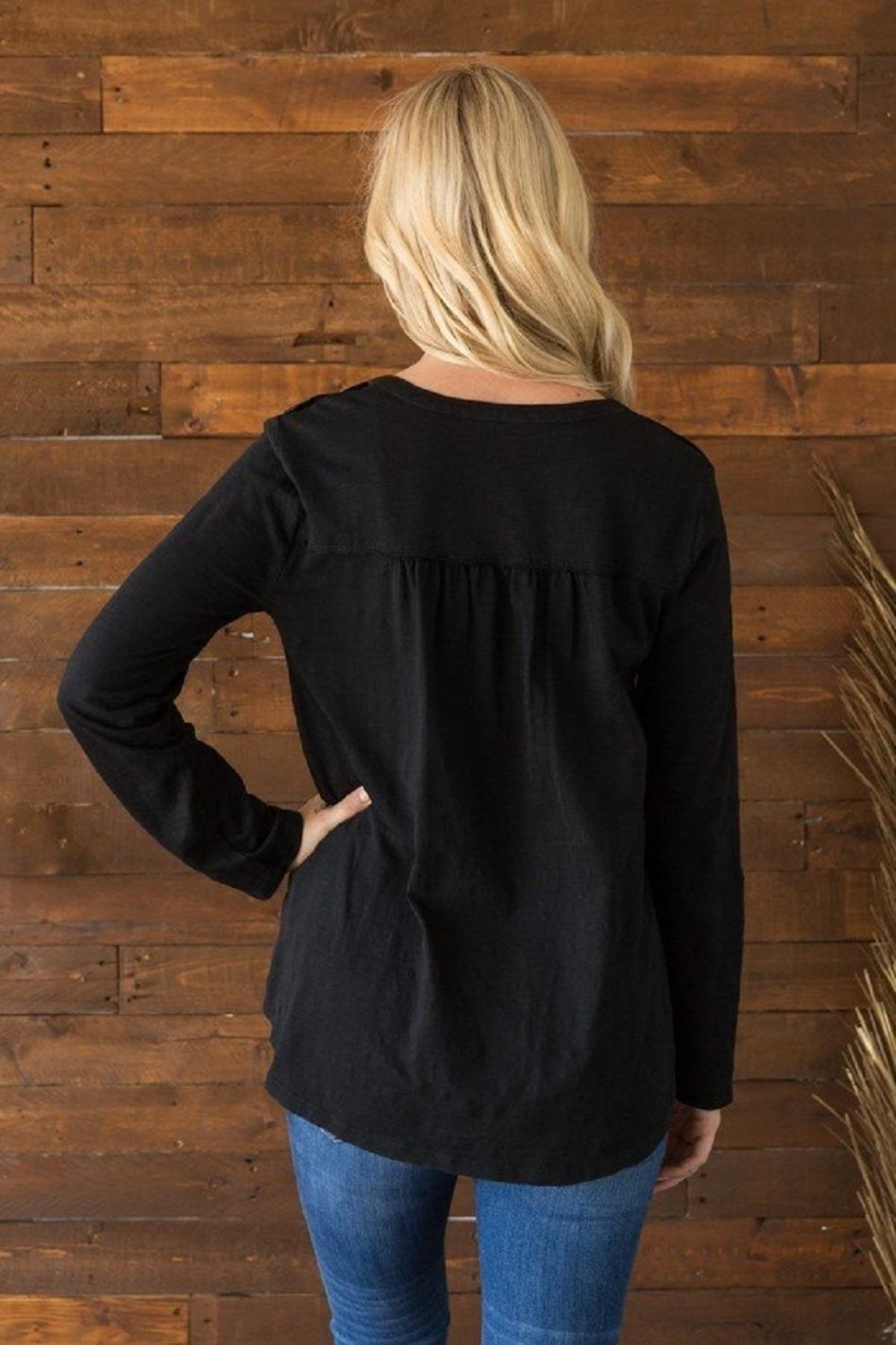 Mystree Cybill Black Top - Front Full Image